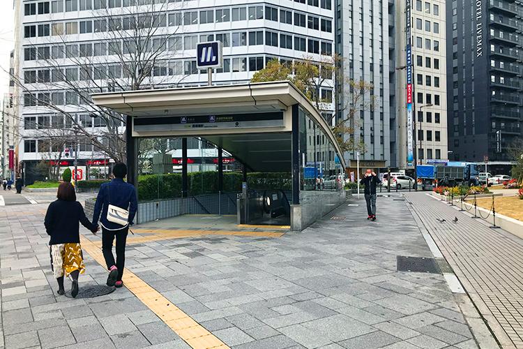 大阪市営地下鉄 長堀鶴見緑地線 長堀橋駅1番出口